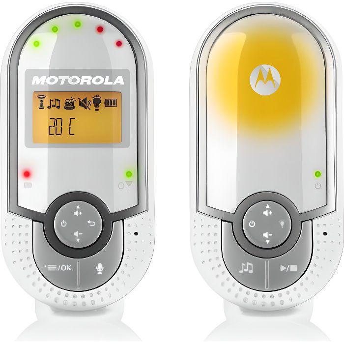 Motorola Baby MBP 140 couleur blanc /éco mode et veilleuse Babyphone audio DECT avec prise murale plug n go et unit/é parents petite et portable