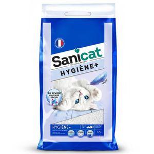 LITIÈRE SILICE - ARGILE SANICAT Litière Hygiène 17l - Pour chat