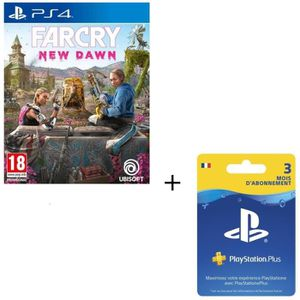 JEU PS4 Pack PS4 : Far Cry New Dawn + Abonnement Playstati