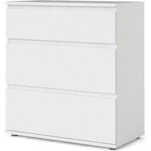 COMMODE DE CHAMBRE Commode 3 tiroirs - Décor blanc - L 76,8 x P 40 x