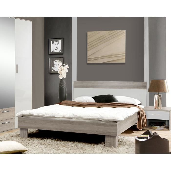 helen lit adulte contemporain ch ne sonoma gris et blanc. Black Bedroom Furniture Sets. Home Design Ideas