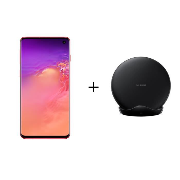 SMARTPHONE Samsung Galaxy S10 128 Go Rouge + PAD induction