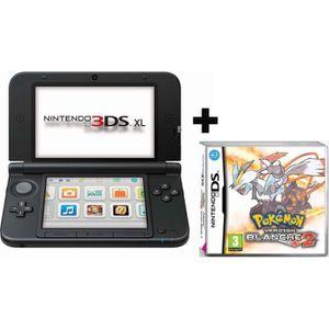 CONSOLE DS LITE - DSI 3DS XL ROUGE NOIR + POKEMON VERSION BLANCHE 2