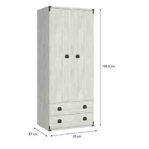 armoire penderie 80cm achat vente armoire penderie. Black Bedroom Furniture Sets. Home Design Ideas