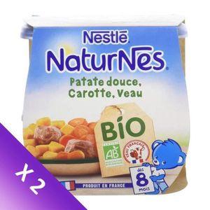 PLATS CUISINÉS [LOT DE 2] NESTLE Naturnes BIO Patate douce carott