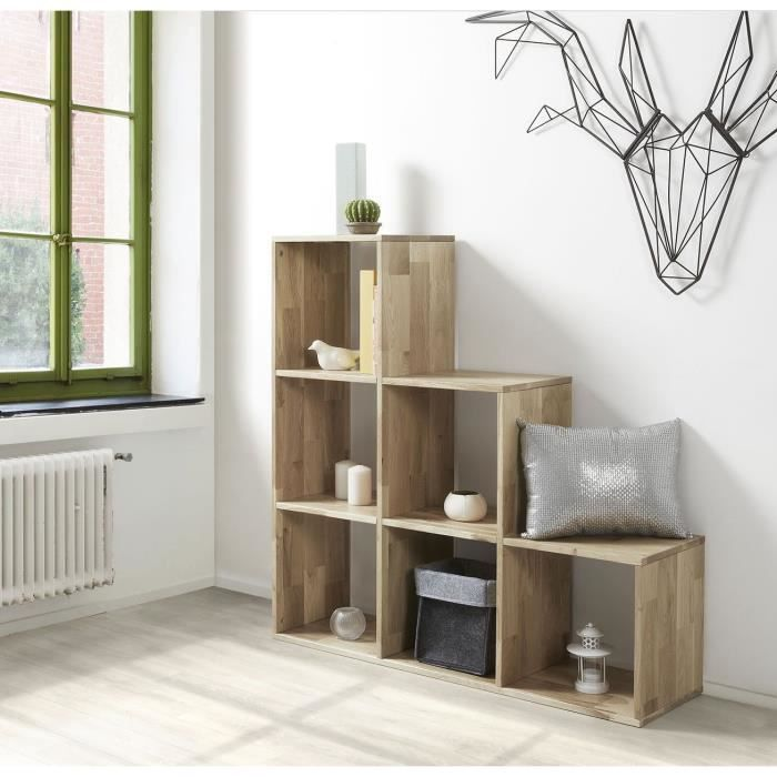 iky cubes de rangement etag re 102 cm ch ne massif. Black Bedroom Furniture Sets. Home Design Ideas
