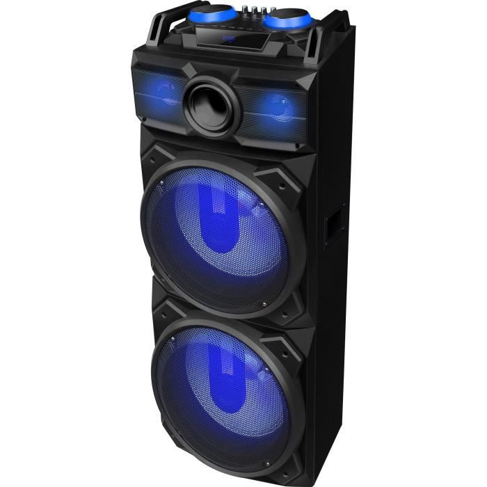 ibiza sound standup dj enceinte dj mobile autonome led avec usb bluetooth et micro vhf. Black Bedroom Furniture Sets. Home Design Ideas