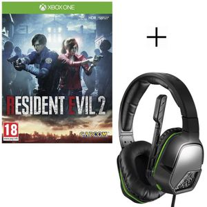 JEU XBOX ONE Resident Evil 2 Jeu Xbox One + Casque PDP Afterglo