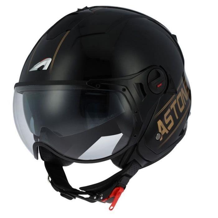 Casque de moto jet Casque jet homologu/é Coque en polycarbonate Casque jet 4 en 1 Elektron Orange M Astone Helmets