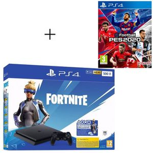 CONSOLE PS4 Pack PlayStation : PS4 Slim 500 Go Noire + eFootba