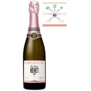 Apéritif à base de vin LE PETIT BERET Rosé Pétillant Boisson sans Alcool