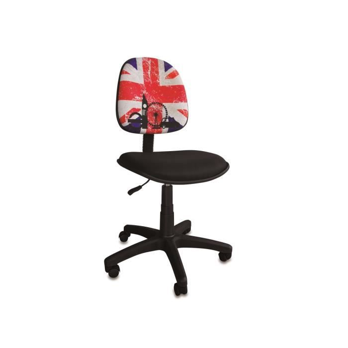 chaise bureau grand mod le brit flag achat vente. Black Bedroom Furniture Sets. Home Design Ideas