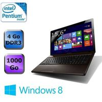 Ordinateur Portable LENOVO IDEAPAD G580 MARRON INTEL PENTIUM B970 2.1GHZ 4GO 500GO WIN7