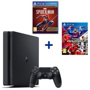 CONSOLE PS4 PS4 Slim 500 Go Noire + eFootball PES2020 + Marvel