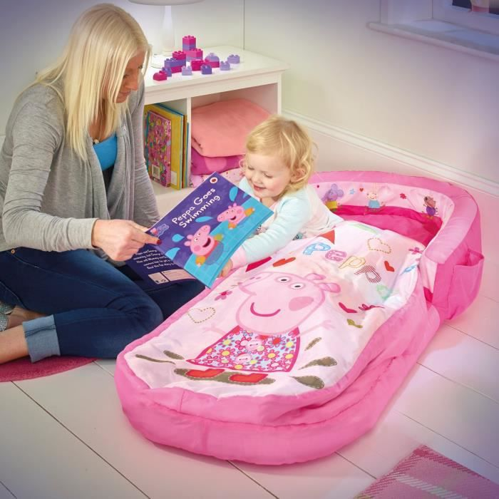 peppa pig lit d 39 appoint sac de couchage enfant avec sac de transport readybed achat vente. Black Bedroom Furniture Sets. Home Design Ideas