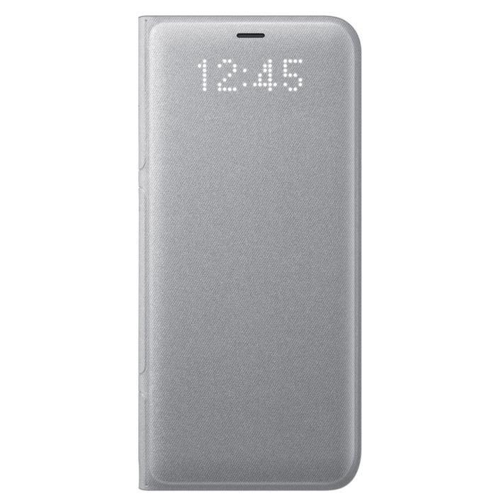 HOUSSE - ÉTUI Samsung LED View cover S8+ Argent