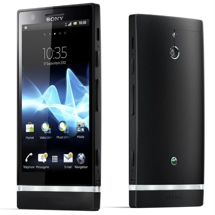 sony xperia p noir achat smartphone pas cher avis et. Black Bedroom Furniture Sets. Home Design Ideas
