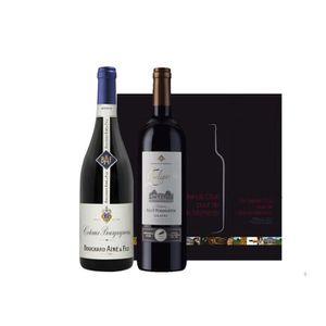COFFRET CADEAU VIN Coffret Duo Bordeaux Bourgogne Rouge