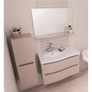 ITALO Salle de bain complète simple vasque L 91 cm - Taupe ...