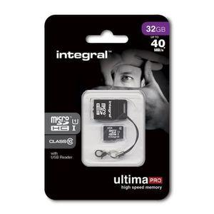 CARTE MÉMOIRE Integral UltimaPro Carte Mémoire Micro SDHC 32 Go
