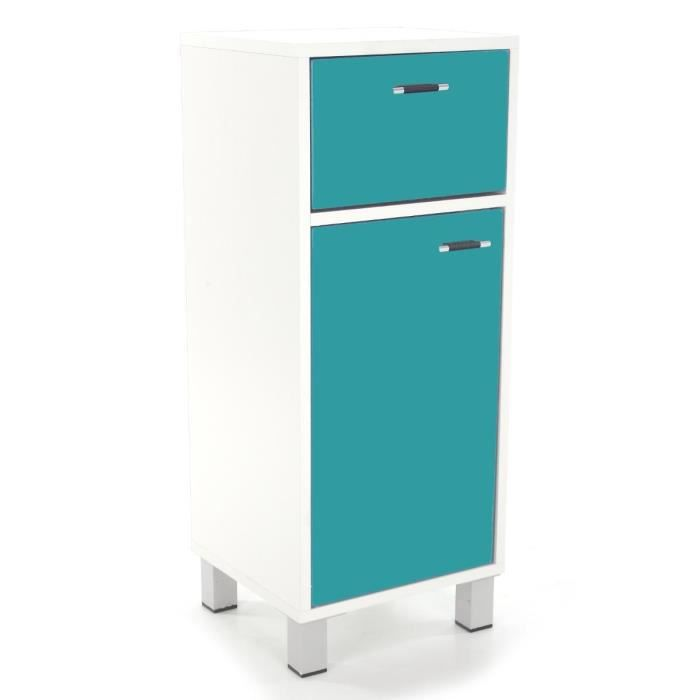meuble bas salle de bain 30 cm turquoise achat vente. Black Bedroom Furniture Sets. Home Design Ideas