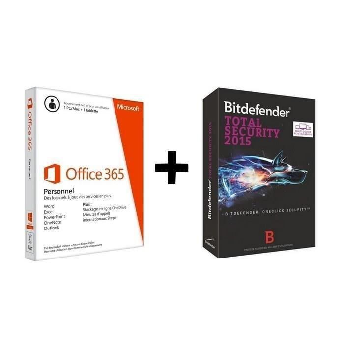 pack microsoft office 365 antivirus bitdefender achat vente antivirus pack office. Black Bedroom Furniture Sets. Home Design Ideas