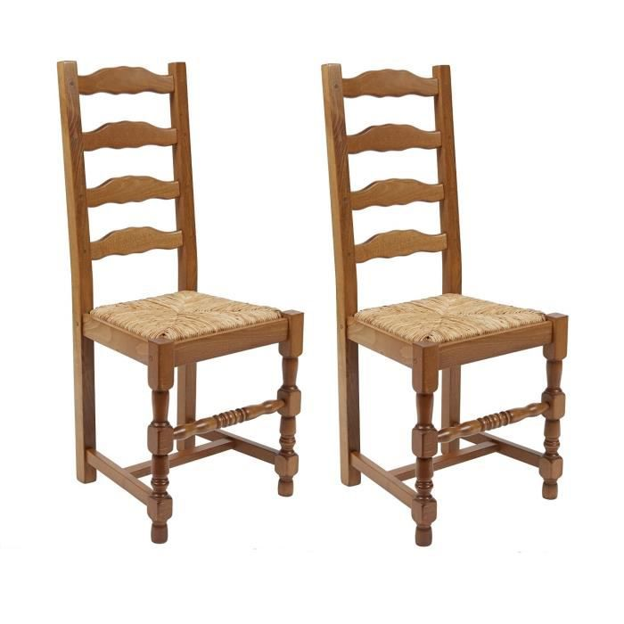 Superpositano lot de 2 chaises de salle manger en h tre for Chaise salle a manger flamant