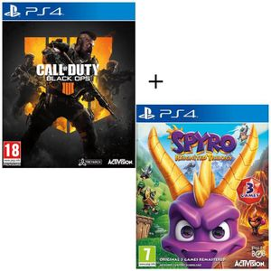 JEU PS4 Pack 2 jeux PS4 : Call of Duty Black OPS 4 + Spyro