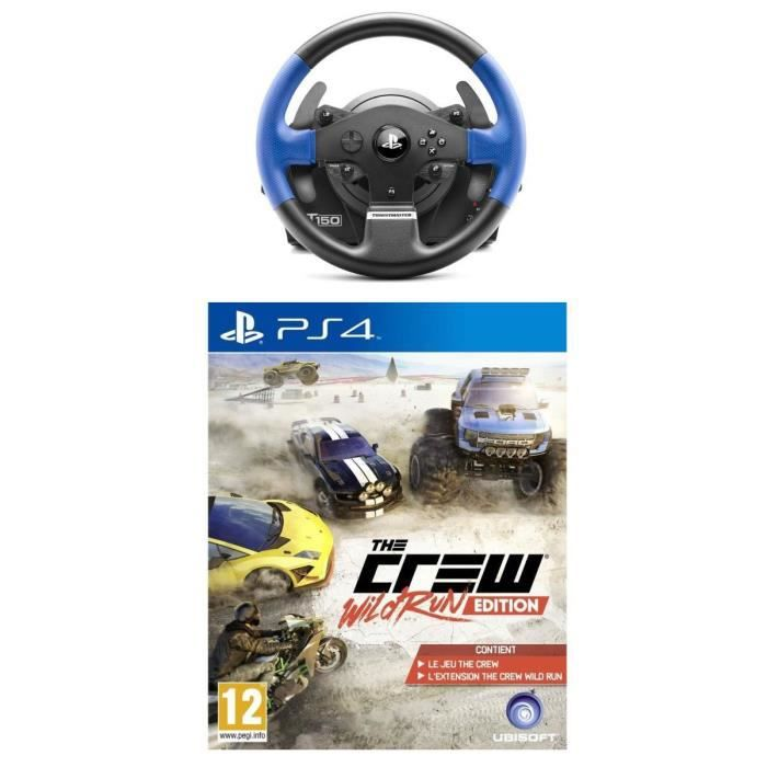 pack volant t150 rs the crew wild run jeu ps4 achat vente jeu ps4 t150 rs the crew ps4. Black Bedroom Furniture Sets. Home Design Ideas