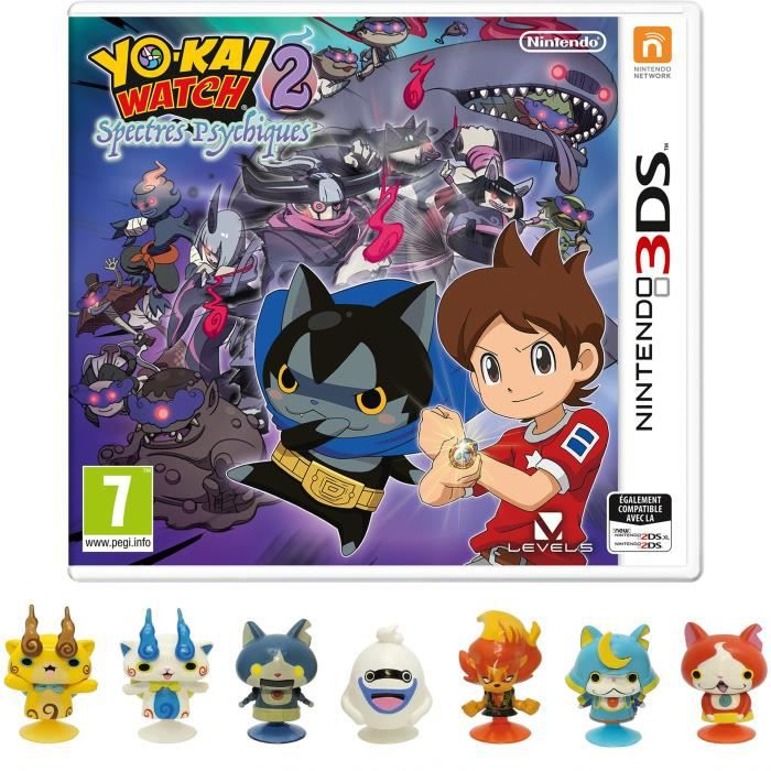 yo kai watch 2 spectres psychiques jeu 3ds 1 figurine gamingpascher. Black Bedroom Furniture Sets. Home Design Ideas