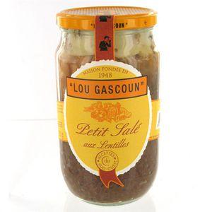 PLAT A BASE DE VIANDE Petit salé aux lentilles 800g Lou Gascoun