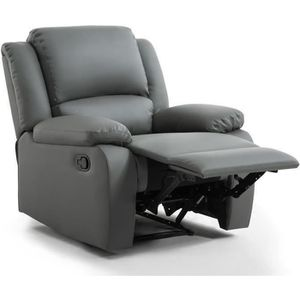 FAUTEUIL RELAX Fauteuil relaxation - Simili gris - Style co