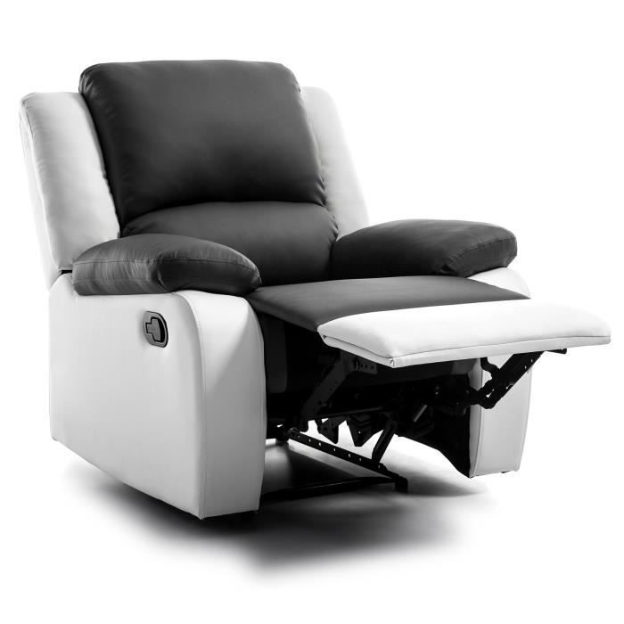 fauteuil de relaxation blanc achat vente pas cher cdiscount. Black Bedroom Furniture Sets. Home Design Ideas