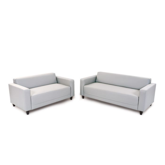 Firr ensemble de salon pu blanc achat vente canap for Ensemble salon blanc