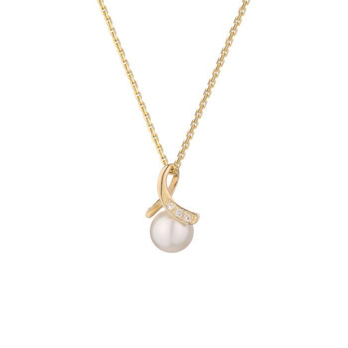 collier perle culture la vie en or