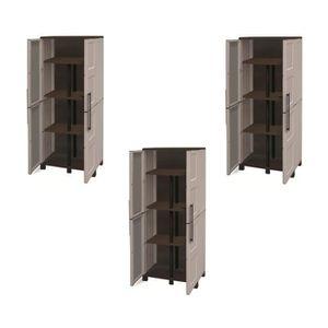 ETABLI - MEUBLE ATELIER TOOD Lot de 3 armoires hautes de rangement 3 table