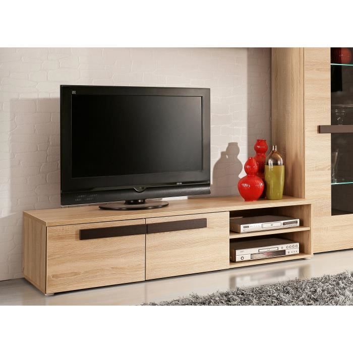 finlandek meuble tv nuori 159cm d cor ch ne clair et weng achat vente meuble tv finlandek. Black Bedroom Furniture Sets. Home Design Ideas