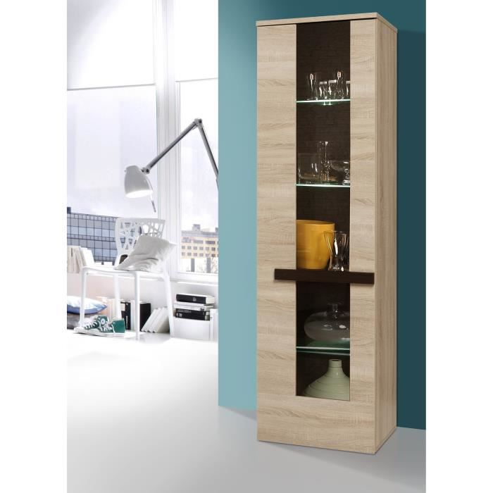 finlandek vitrine nuori 196cm d cor ch ne clair et weng. Black Bedroom Furniture Sets. Home Design Ideas