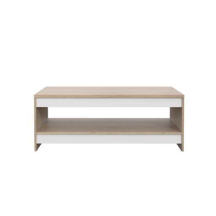 Contemporain 94 Table cm L MIDTOWN FINLANDEK Décor blanc basse chêne mat 5 sonoma 3D et W29IEDH