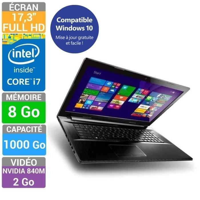 lenovo pc portable z70 80 core i7 17 3 prix pas cher. Black Bedroom Furniture Sets. Home Design Ideas