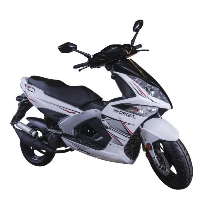 longjia scooter 50cc draft 2t 12 pouces blanc achat vente scooter scooter draft 50cc 2 temps. Black Bedroom Furniture Sets. Home Design Ideas