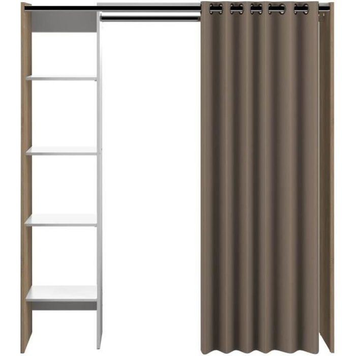 dress up dressing extensible taupe 1 colonne achat vente amenagement dressing dress up. Black Bedroom Furniture Sets. Home Design Ideas