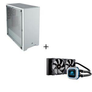 BOITIER PC  CORSAIR Boîtier PC Carbide 275R Blanc + CORSAIR Re