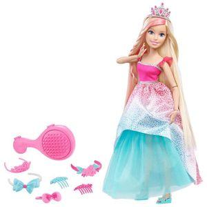 POUPÉE BARBIE Grandes Princesse à coiffer Blonde 43 cm