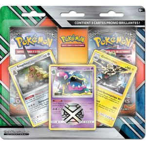 CARTE A COLLECTIONNER POKEMON - Soleil et Lune - Pack 2 Boosters + 3 Car