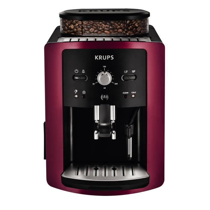 Machine caf en grain expresso automatique krups gamay ea800r10 rouge - Machine a cafe a grain krups ...