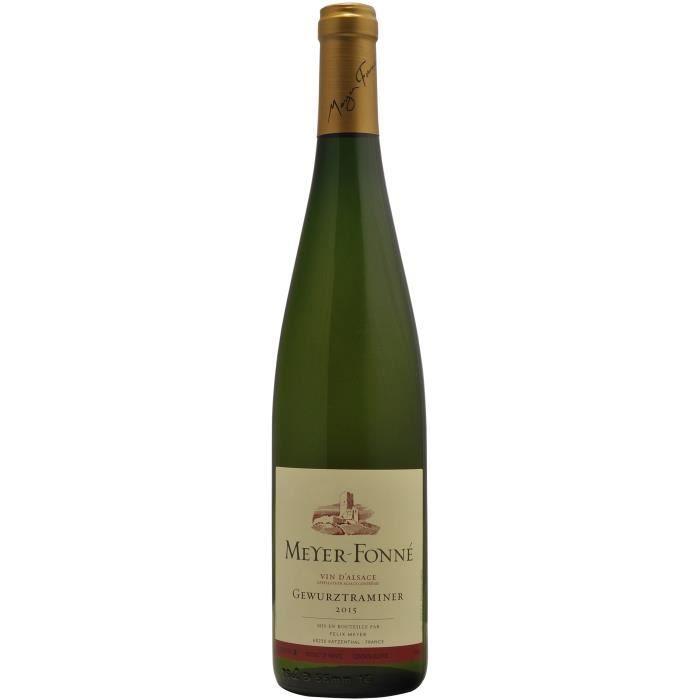 VIN BLANC Félix Meyer 2015 Gewurztraminer - Vin blanc d'Alsa
