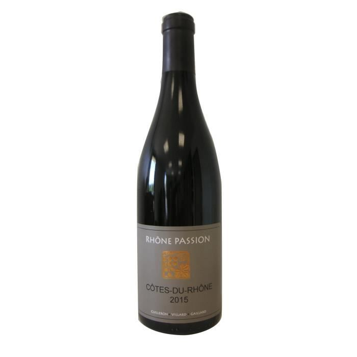 VIN ROUGE Rhône Passion 2015 Côtes du Rhône - Vin rouge des