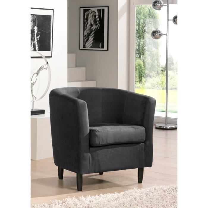orleans fauteuil cabriolet gris anthracite achat vente fauteuil rev tement microfibre 100. Black Bedroom Furniture Sets. Home Design Ideas
