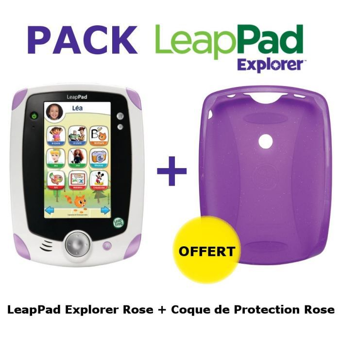 CONSOLE ÉDUCATIVE LeapPad Tablette Explorer Rose + Coque Rose